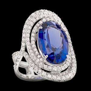 massimo raiteri exclusive jewellery gioielli diamond diamanti sapphire zaffiro anello diamanti
