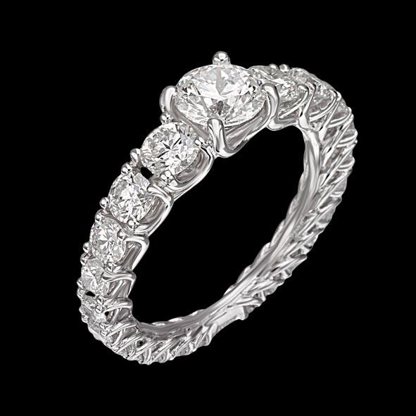 massimo raiteri jewellery jewelry diamond diamonds diamante diamanti anello ring fedina giro eternity classic classico