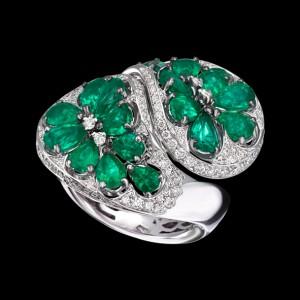 Massimo Raiteri jewellery gioielli anello smeraldi diamanti