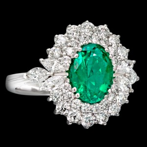 massimo raiteri exclusive jewellery gioielli anello ring contorno classic diamonds diamanti emerald smeraldo