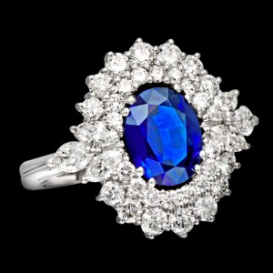 massimo raiteri exclusive jewellery gioielli ring anello contorno classic diamonds diamanti sapphire zaffiro