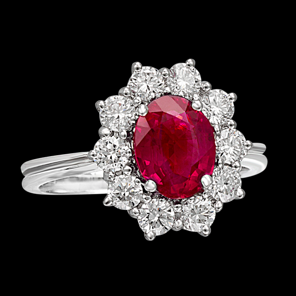 pigeon blood massimo raiteri exclusive jewellery gioielli anello ring contorno classic diamonds diamanti ruby rubino