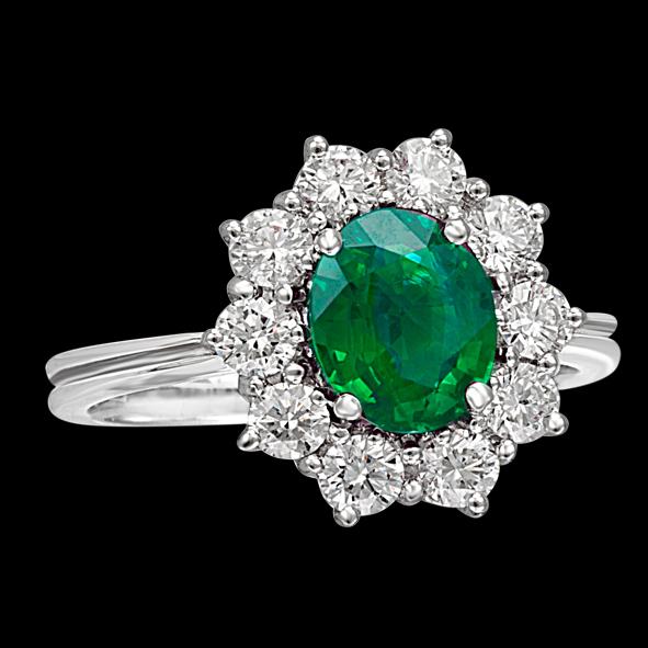 massimo raiteri exclusive jewellery gioielli anello ring contorno classic diamonds diamanti emerald smeraldo