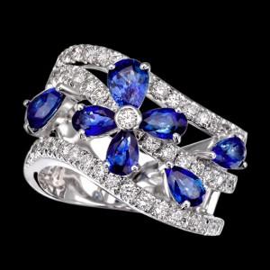 massimo raiteri exclusive jewelry jewelry gioielli diamanti diamonds white bianchi flower fiore sapphire zaffiro zaffiri sapphires