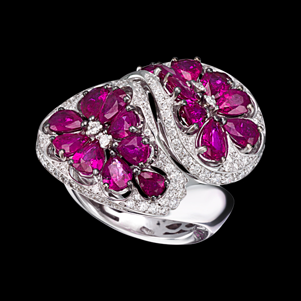 Massimo Raiteri gioielli jewellery iewelry ruby diamonds anello ring rubini diamanti unici oro unique design fashion