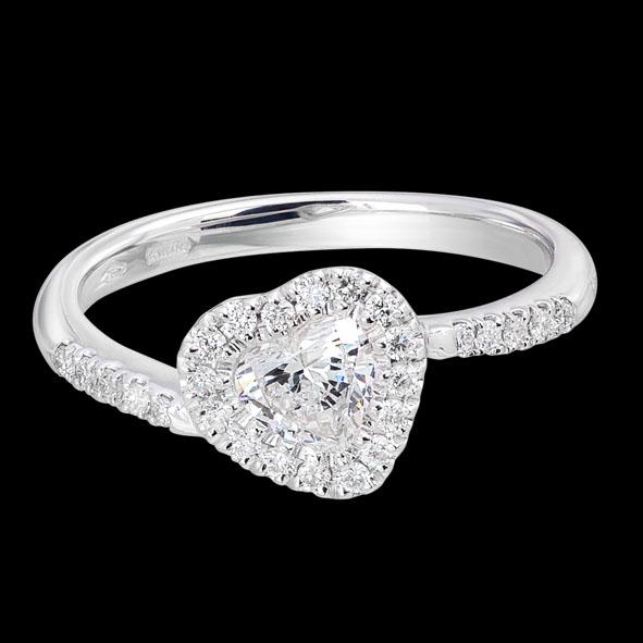 AN3165BR massimo raiteri jewellery gioielli anello ring jewelery solitar solitario diamanti diamond heart cuore fidanzamento