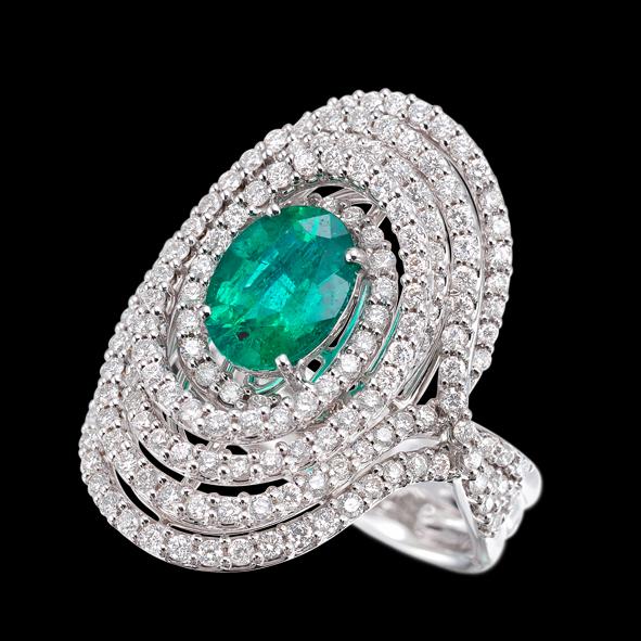 massimo raiteri exclusive jewellery gioielli ring diamond diamanti smeraldo emerald