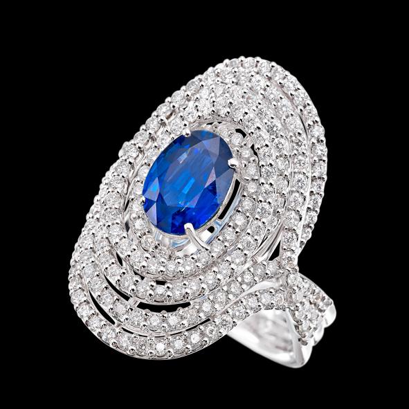 massimo raiteri exclusive jewellery gioielli ring diamond diamanti sapphire zaffiro
