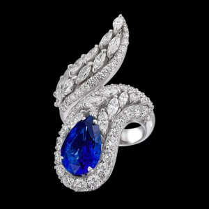 massimo raiteri jewellery jewelry gioielli anello ring diamond diamonds diamanti unique unici design faschion sapphire zaffiro zaffiri sapphires pear goccia