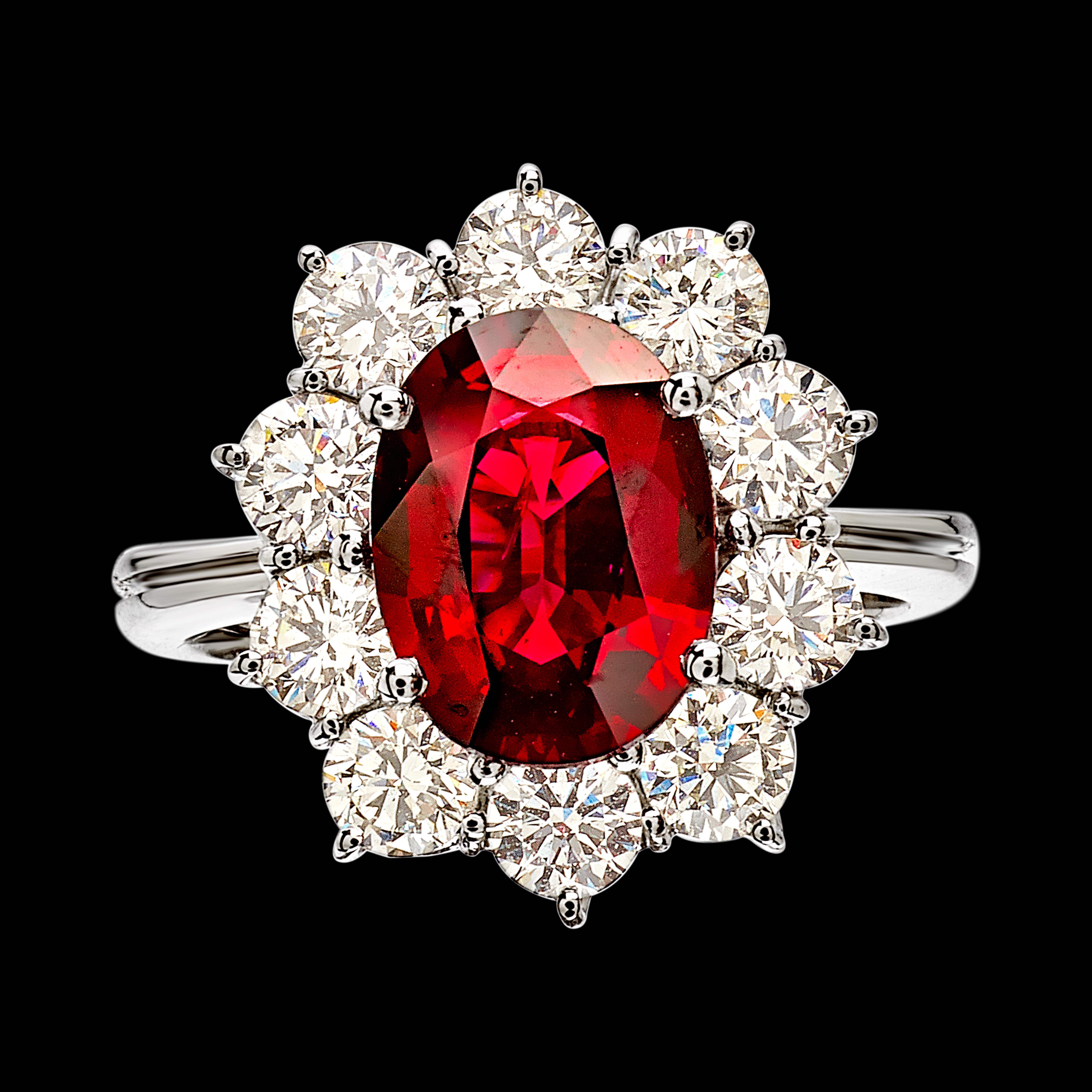 AN3207RB Massimo Raiteri pigeon blood ring diamonds classic timeless jewelry sangue di piccione anello diamanti classico contorno senza tempo