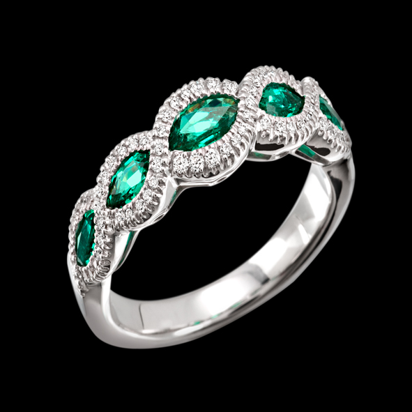 massimo raiteri exclusive jewellery emerald smeraldi ring anello diamanti