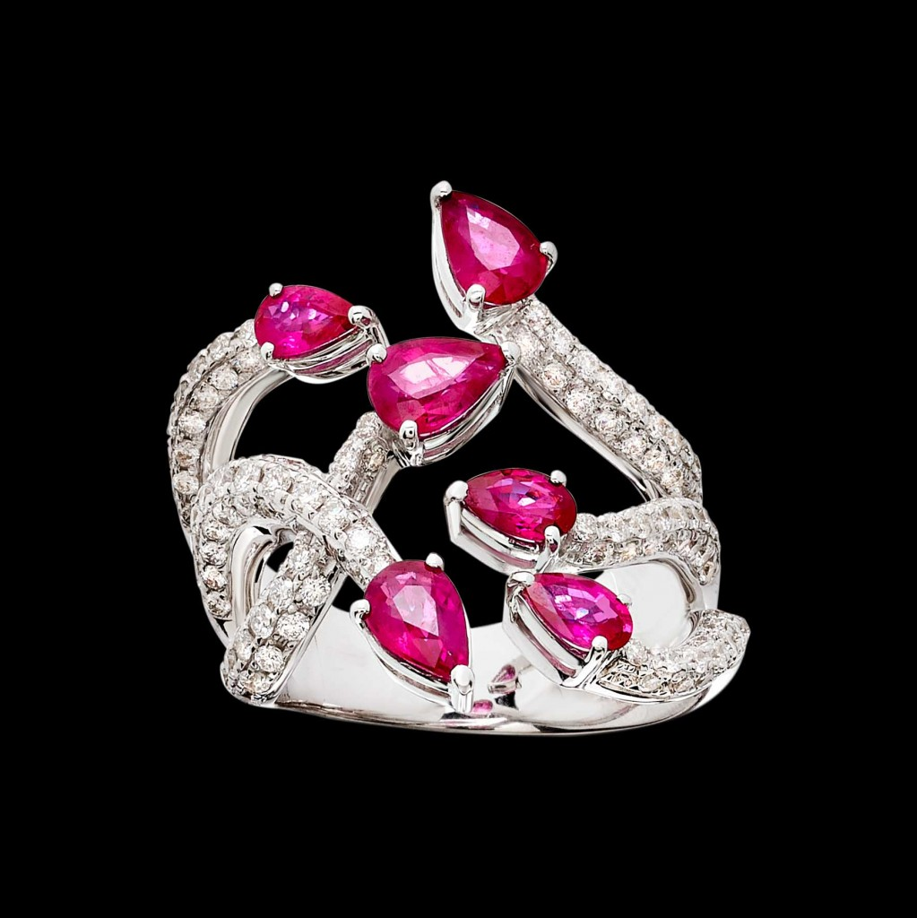 Massimo Raiteri exclusive jewelry fashion design ring bracelet anello diamanti bracciale moda unico unici high ruby rubini