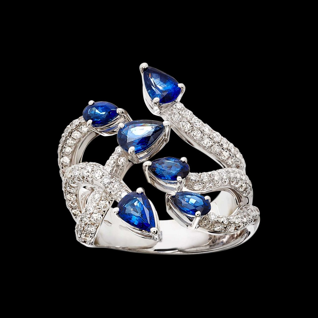 Massimo Raiteri exclusive jewelry fashion design ring bracelet anello diamanti bracciale moda unico unici high sapphires zaffiro zaffiri