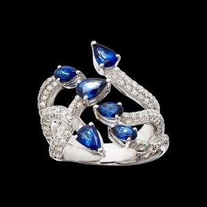 Massimo Raiteri exclusive jewelry fashion design ring bracelet anello diamanti bracciale moda unico unici high sapphires zaffiro zaffiri
