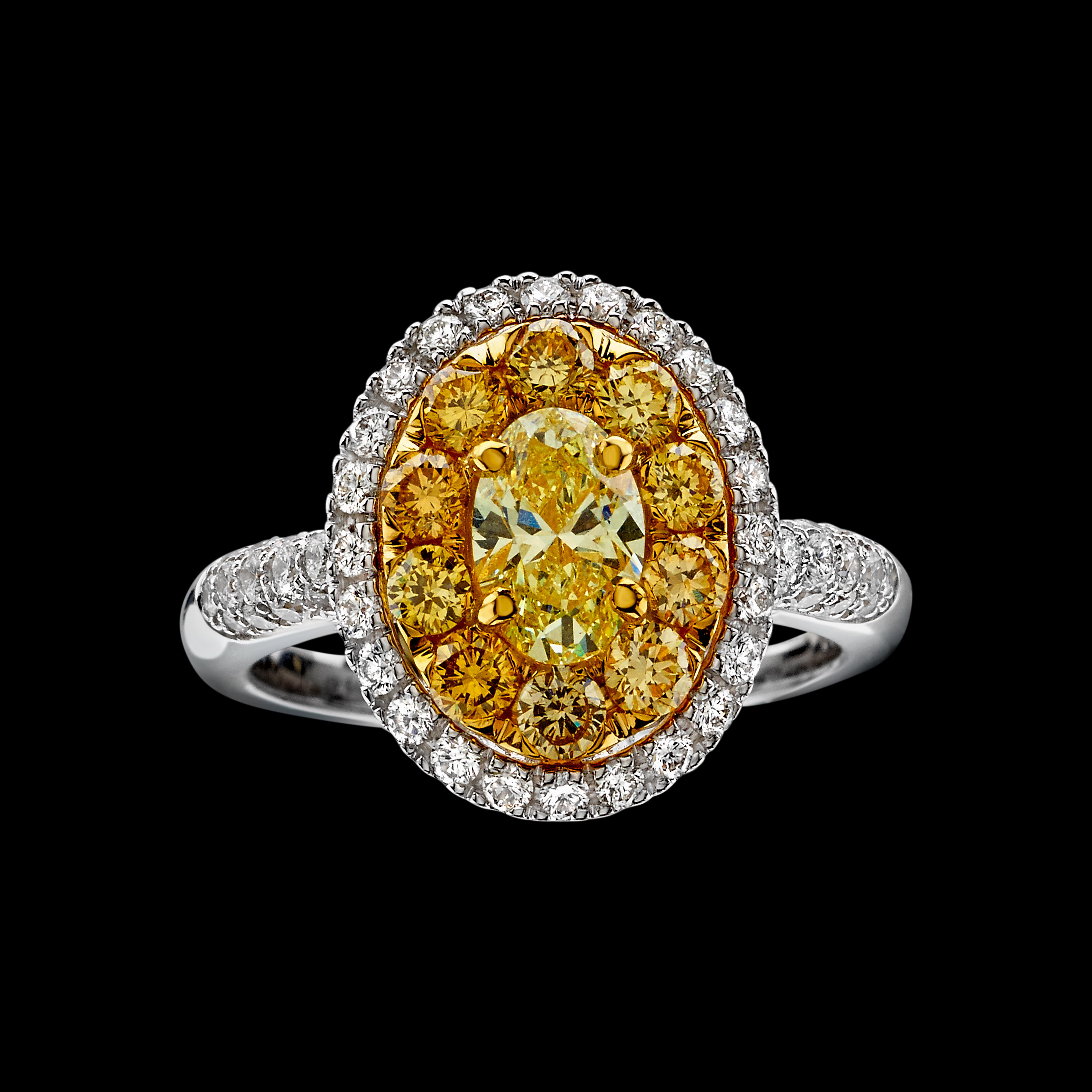 massimo raiteri anello diamanti gialli fanti yellow diamonds ring