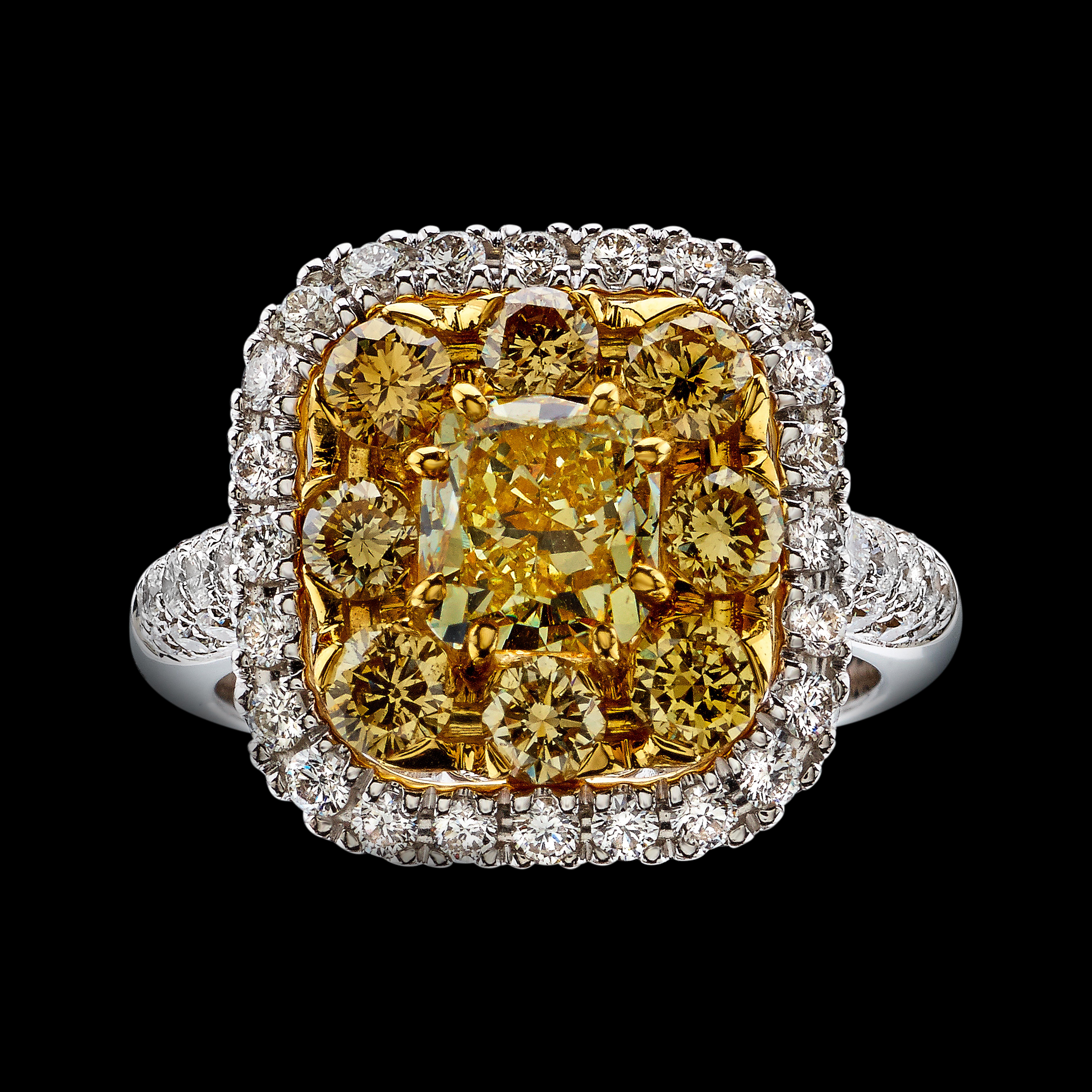Massimo Raiteri fancy yellow diamonds anello diamanti gialli