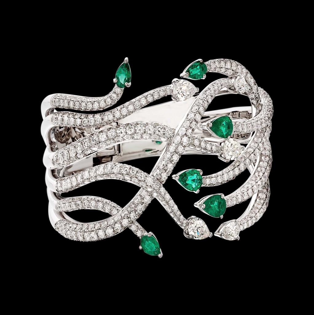 Massimo Raiteri exclusive jewelry fashion design ring bracelet anello diamanti bracciale moda unico unici high emerald smeraldi colombia