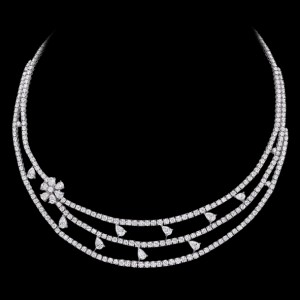 massimo raiteri exclusive jewellery gioielli tennis necklace girocollo diamonds diamanti collana