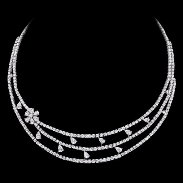 massimo raiteri exclusive jewellery gioielli tennis necklace girocollo diamonds diamanti collana