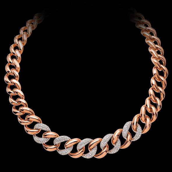 massimo raiteri exclusive jewellery gioielli necklace girocollo collana diamond diamanti groumette rose gold