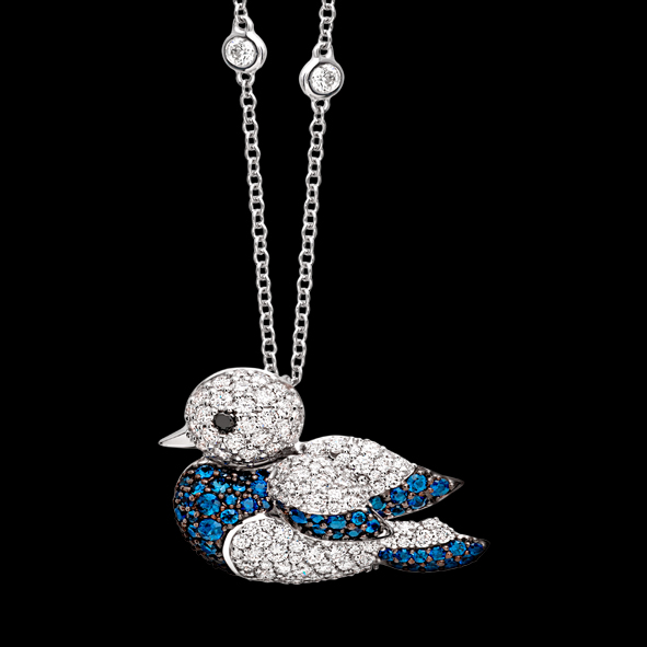 massimo raiteri exclusive jewellery pettirosso uccellino bird diamond gioielli diamanti animali animols