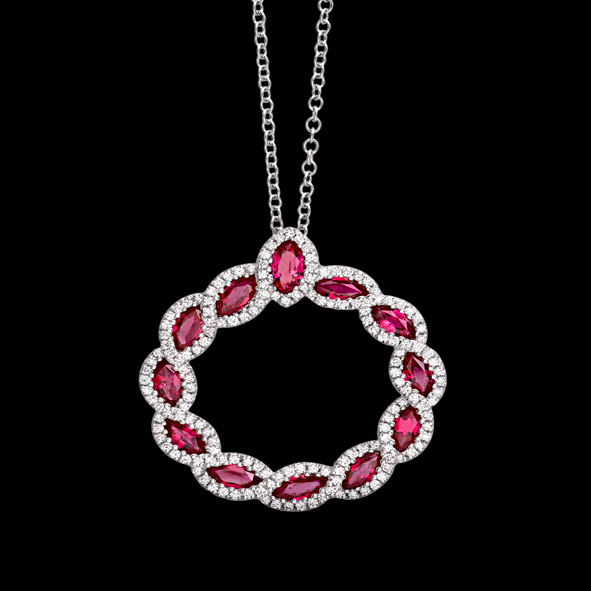 massimo raiteri exclusive jewellery gioielli diamanti diamond necklace rubini ruby