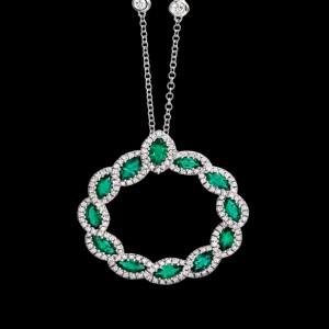 massimo raiteri exclusive jewellery gioielli diamanti diamond necklace emerald smeraldi collana