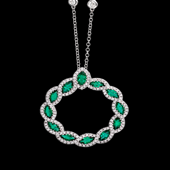 massimo raiteri exclusive jewellery gioielli diamanti diamond necklace emerald smeraldi collana