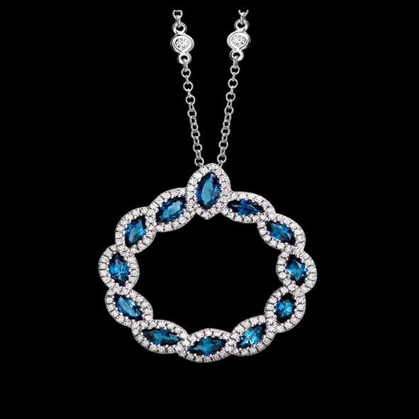 massimo raiteri exclusive jewellery gioielli diamanti diamond necklace sapphire zaffiri collana