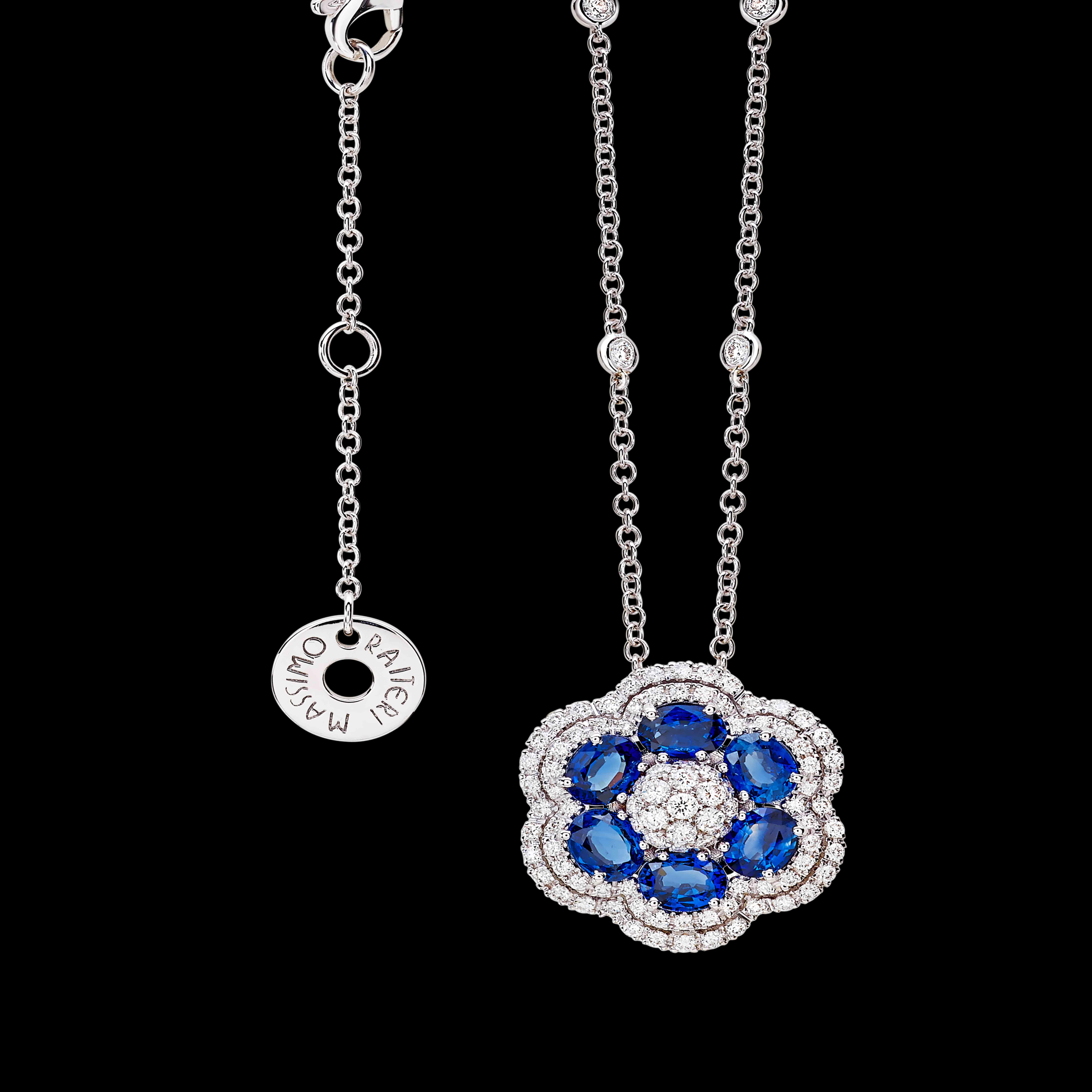 massimo raiteri exclusive jewellery necklace classic design  ruby gioielli collana ciondolo diamanti gioielleria rubini diamanti emerald smeraldi sapphire zaffiri