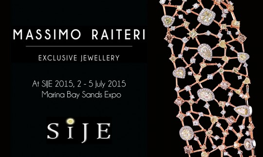 Massimo Raiteri exclusive jewellery Singapore International Jewellery Exhibition SIJE 2015 news