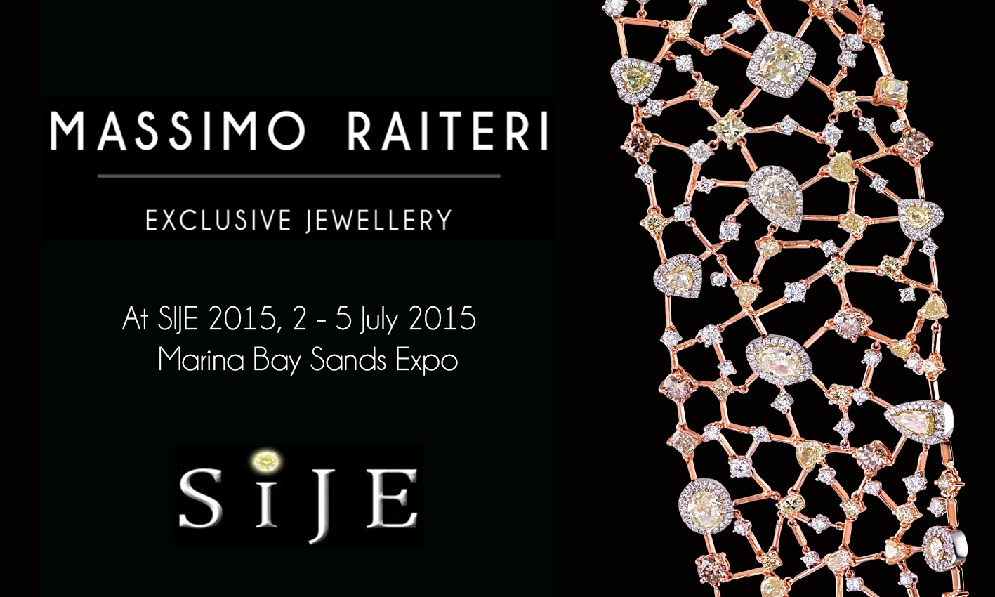 MASSIMO RAITERI ALLA SINGAPORE INTERNATIONAL JEWELLERY EXPO (SIJE) 2015