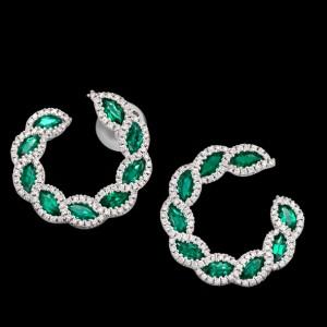 massimo raiteri exclusive jewellery gioielli earring orecchini diamanti diamonds emerald smeraldi