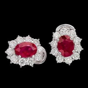 massimo raiteri exclusive jewellery gioielli earring orecchini contorno classic diamonds diamanti ruby rubino