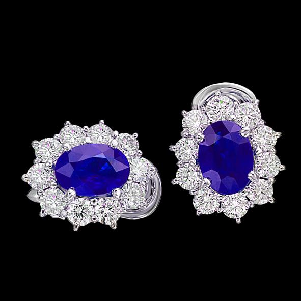 massimo raiteri exclusive jewellery gioielli earring orecchini contorno classic diamonds diamanti sapphire zaffiro