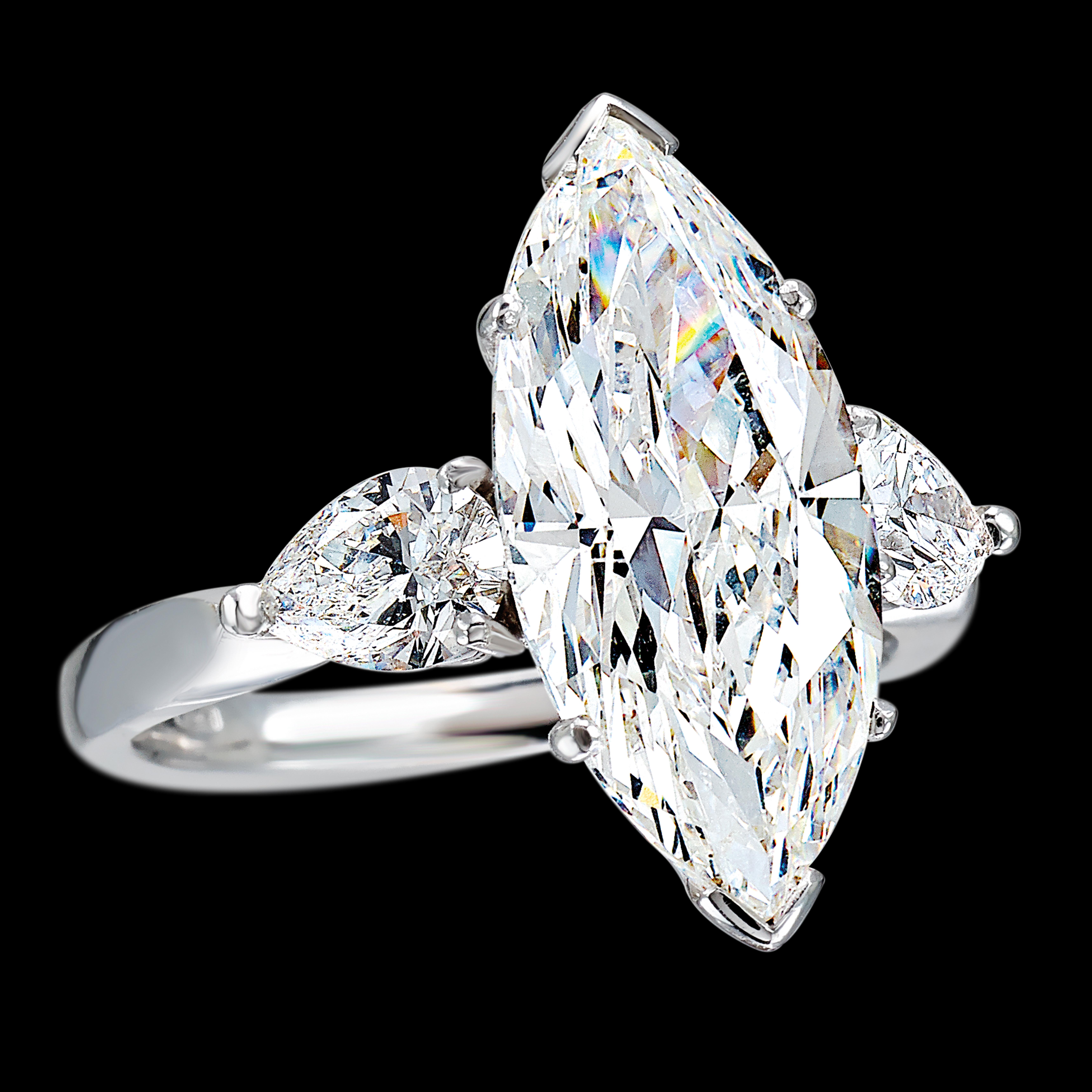 massimo raiteri marquise diamond solitair solitario marquise anello diamanti diamonds classic timeless